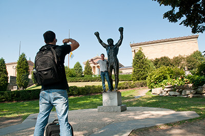 NFL Draft in Philadelphia - Rocky Statue