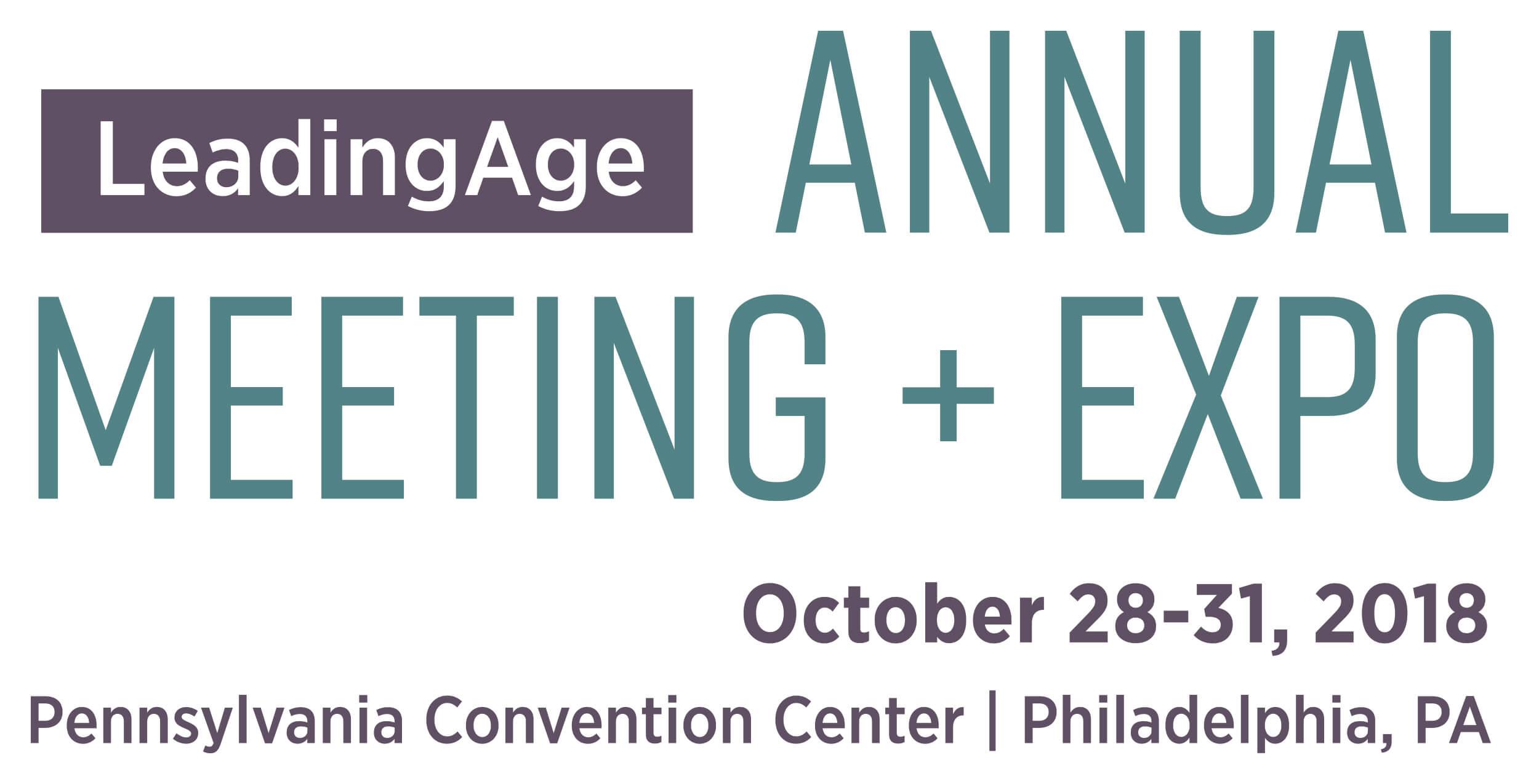 LeadingAge 2018 logo