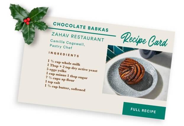 Chocolate Babka Recipe Card